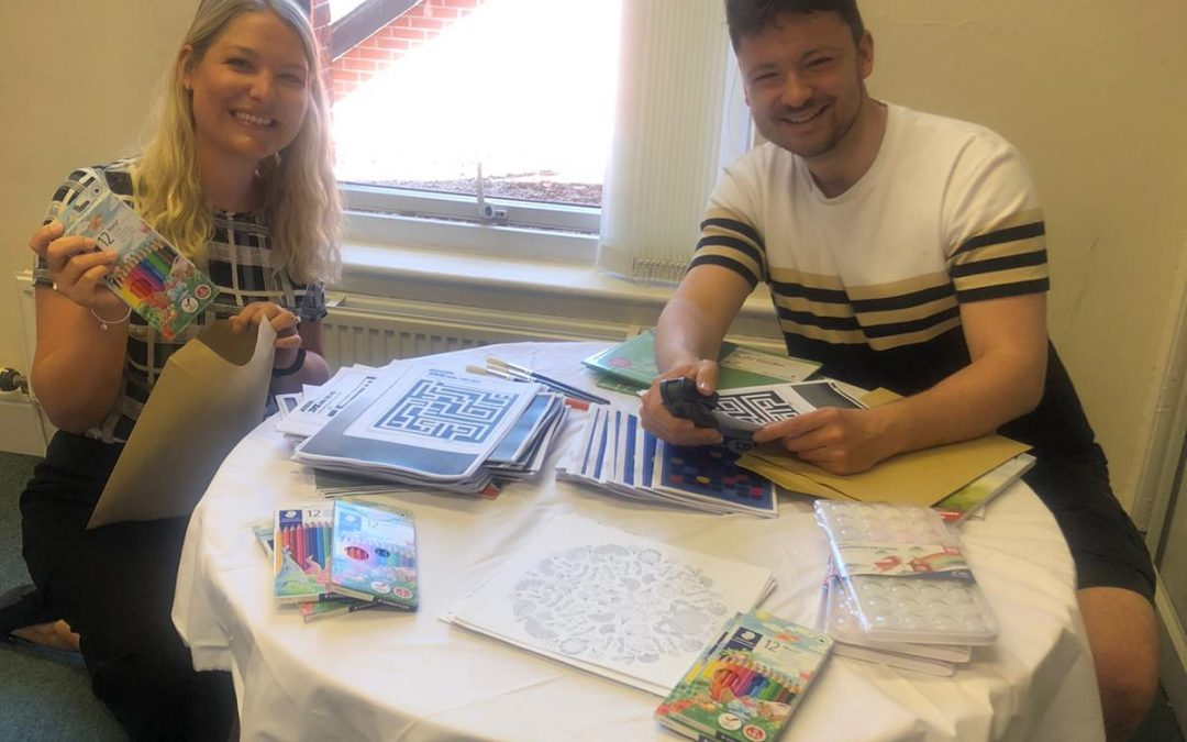 Providing activity packs for people with sensory loss