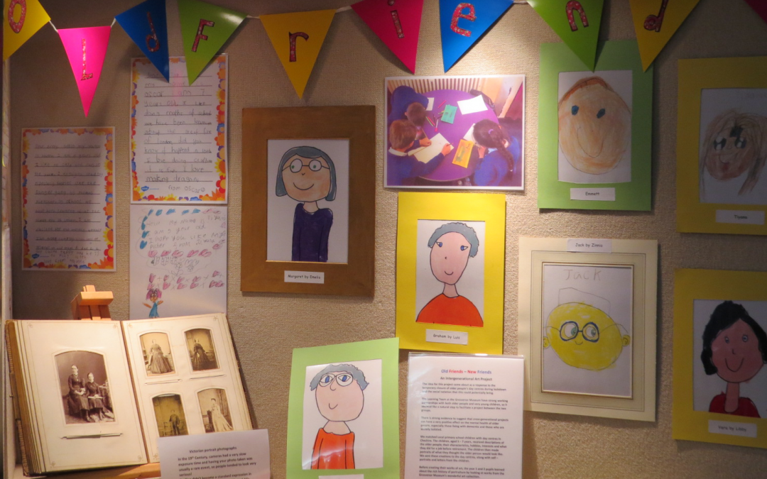 Drawings of people using Vivo's services displayed at Grosvenor Museum as part of art project